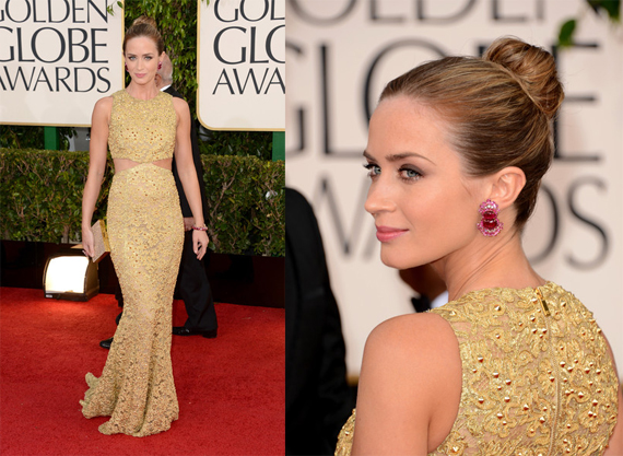 Emily Blunt looked gorgeous in Michael Kors.