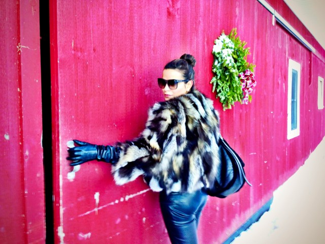 Pants by Helmut Lang and gloves by Club Monoco.