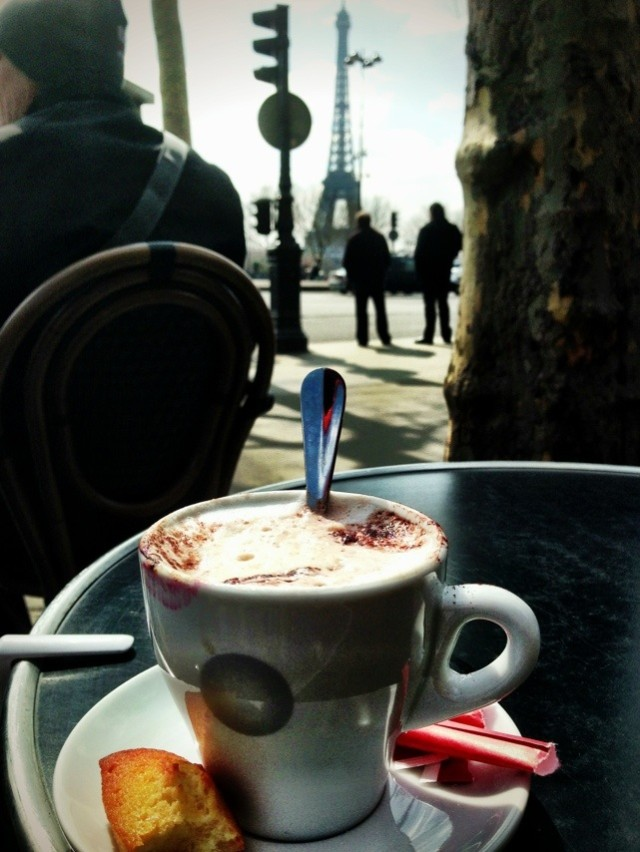 Cappuccino with a view.