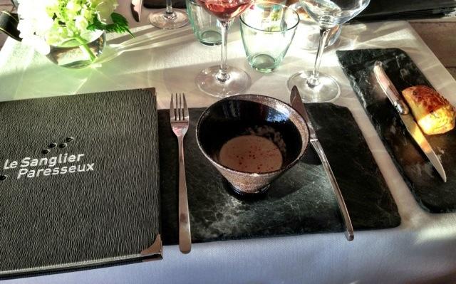 Le Sanglier Parasseux restaurant.