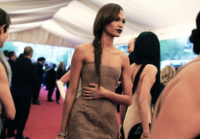 Joan Smalls in Vera Wang.